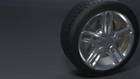 Los neumáticos de coche alean las ruedas fotos de archivo