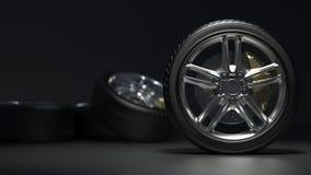 Los neumáticos de coche alean las ruedas libre illustration