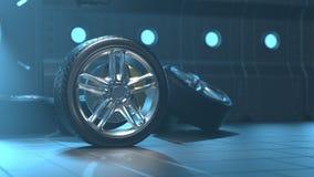 Los neumáticos de coche alean las ruedas ilustración del vector