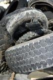 Los neumáticos del vehículo reciclan la fábrica ecológica Fotografía de archivo libre de regalías