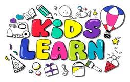 Los niños aprenden concepto de las ideas de los niños de la creatividad de la educación Imagenes de archivo