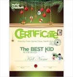 Los niños certifican para la Navidad Imágenes de archivo libres de regalías