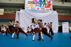 Los niños compiten en la competencia internacional de la danza de SpringCup Fotografía de archivo