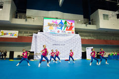 Los niños compiten en la competencia internacional de la danza de SpringCup Fotos de archivo libres de regalías