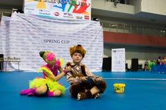 Los niños compiten en la competencia internacional de la danza de SpringCup Fotografía de archivo libre de regalías