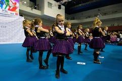 Los niños compiten en la competencia internacional de la danza de SpringCup Imagenes de archivo