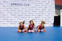 Los niños compiten en la competencia internacional de la danza de SpringCup Imagen de archivo libre de regalías