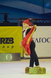 Los niños compiten en la competencia internacional de la Maugli-TAZA en gimnasia Fotos de archivo