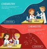Los niños de la lección de la química enseñan la clase elemental libre illustration