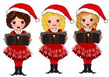 Los niños de la Navidad leyeron el libro stock de ilustración