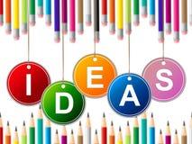 Los niños de las ideas representan invenciones y al joven de los niños Fotos de archivo