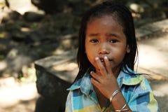 Los niños en Campuchea Imagenes de archivo