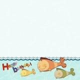 Los niños enmarcan con los pescados Imagen de archivo libre de regalías