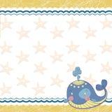 Los niños enmarcan con una ballena y una estrella de mar Foto de archivo libre de regalías