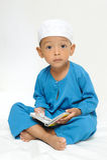 Los niños islámicos aprendían Imagen de archivo libre de regalías