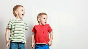Los niños pequeños se divierten junto en casa Fotos de archivo libres de regalías