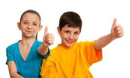 Los niños sonrientes están muy bien Foto de archivo libre de regalías
