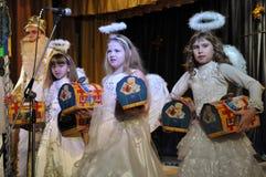 Los niños ucranianos celebran el _7 de St_ Nicholas Day Foto de archivo libre de regalías