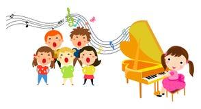 Los niños de la presentación de la música Fotos de archivo libres de regalías