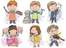 Los niños de las profesiones fijaron 2 Imagen de archivo libre de regalías