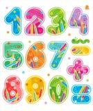 Los números adornados, consideran el sistema también correspondiente de ABC Imagen de archivo libre de regalías