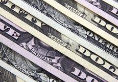 Los nombres de los presidentes en los billetes de banco del dólar imagen de archivo libre de regalías