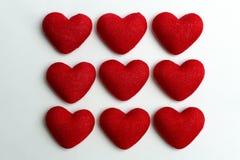Los nueve de corazones Foto de archivo libre de regalías
