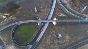 Los nuevos caminos son entradas al puente crimeo metrajes