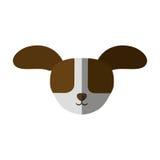 los oídos grandes del perro principal suben la sombra stock de ilustración