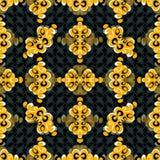 Los objetos abstractos amarillos en un fondo oscuro hermoso vector el ejemplo Fotografía de archivo
