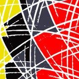 Los objetos amarillos de la pintada y grises rojos vector el ejemplo Fotos de archivo