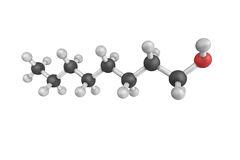 Los octanoles son alcoholes con la fórmula C8H17OH Hay la posición 89 Foto de archivo