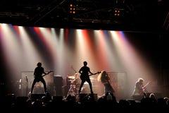Los ojos, banda de metales pesados, demostración de la música en directo en la etapa del Razzmatazz Fotografía de archivo