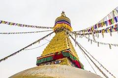 Los ojos de Boudhanath Stupa Imagen de archivo
