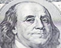 Los ojos de Franklin Fotografía de archivo