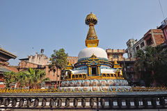 Los ojos de la sabiduría, imitan de Bodhnath, Nepal imágenes de archivo libres de regalías