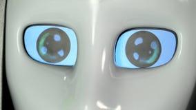 Los ojos del robot son por intervalos Cierre para arriba metrajes
