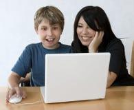 Los ordenadores son diversión Imagen de archivo libre de regalías