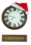 Los ornamentos de la Navidad, campanas, estrellas, bolas, la Navidad enrruellan las etiquetas, árbol, día de fiesta, Año Nuevo, d Imagen de archivo libre de regalías