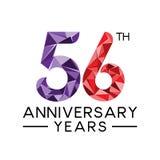 los 56.os años del aniversario resumen la cuesta llena moderna del triángulo libre illustration