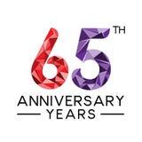los 65.os años del aniversario resumen la cuesta llena moderna del triángulo Libre Illustration
