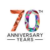 los 70.os años del aniversario resumen la cuesta llena moderna del triángulo ilustración del vector