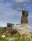 Los osos de la escultura Imagen de archivo