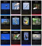 Los pájaros hacen calendarios para 2014 Imágenes de archivo libres de regalías