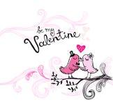 Los pájaros que se besan de la tarjeta del día de San Valentín libre illustration