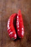 Los pájaros rojos eye los chiles, populares en di tailandeses y asiáticos Imagenes de archivo