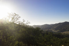 Los Padres National Forest Sunrise Stock Images