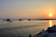 Los paisajes marinos toscanos, paraíso están después XI Imagen de archivo