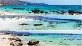 Los paisajes panorámicos de Elafonissi varan, isla de Creta, Grecia Imágenes de archivo libres de regalías