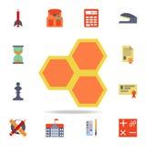 los panales colorearon el icono Sistema detallado de iconos coloreados de la educación Diseño gráfico superior Uno de los iconos  stock de ilustración